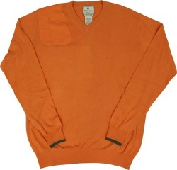 BERETTA MEN'S COUNTRY CLASSIC V-NECK SWEATSHIRT ORANGE
