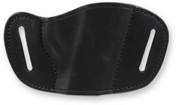 Bulldog Molded-Leather Belt-Slide Holster - Black