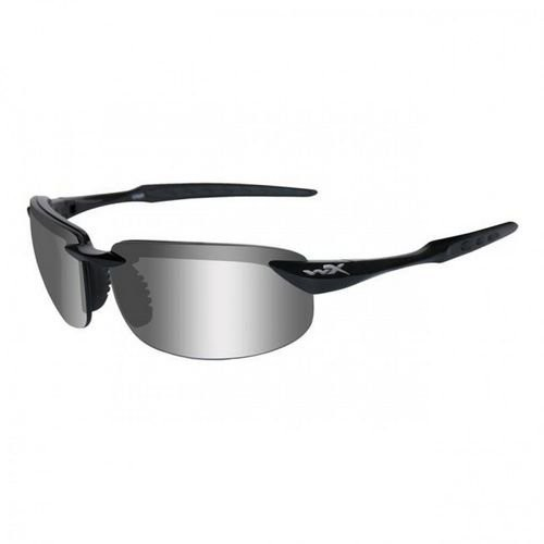 Wiley X WX Tobi Sunglasses - Polarized Silver Flash w/Smoke Grey Lens / Gloss Black Frame, ACTOB04