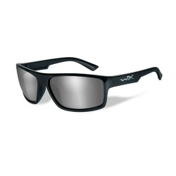 Wiley X WX Peak Sunglasses - Silver Flash Lens / Gloss Black Frame, WXACPEA01