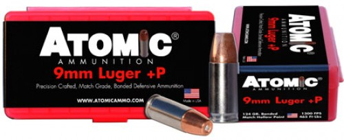 ATOMIC AMMO 9MM LUGER +P