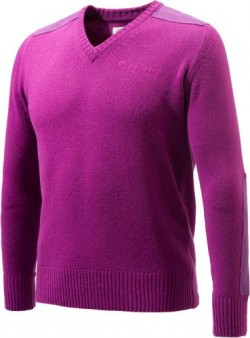 BERETTA MEN'S CLASSIC V-NECK SWEATER VIOLET