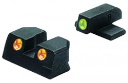 Meprolight Night Sights for Sig 9mm & .357 Sig P Series, Green/Orange #8 Front & Rear
