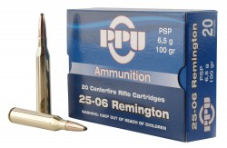 PPU Rifle Ammunition .25-06 Rem 100 gr PSP 3230 fps  20/ct