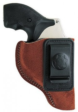 Bianchi Model 6 Inside Waistband Holster, Rust Suede, Right Hand 10370