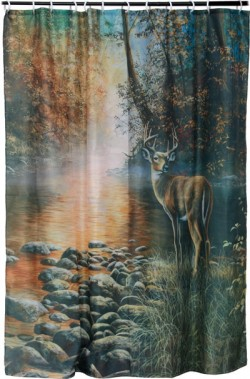 Rivers Edge RIVERS EDGE DEER SHOWER CURTAIN