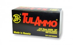 223 Rem - 55 Grain HP - Tula - 100 Rounds