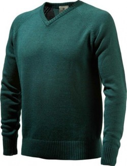 BERETTA MEN'S CLASSIC V-NECK SWEATER X-LARGE DARK GREEN