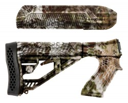 Adaptive Tactical EX Performance Stock and Forend for Remington 870 - Black