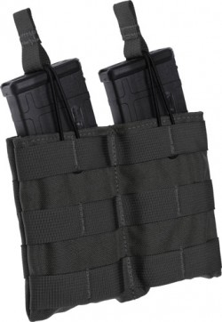 Tac Shield Speed Load AR-15 Rifle Double Magazine MOLLE Pouch Nylon Black