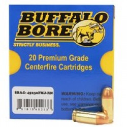 Buffalo Bore Low Flash 45 ACP 230 Gr FMJ-RN (Per 20)