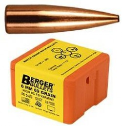 BERGER BULLETS 6MM  69GR BC FB VARMINT