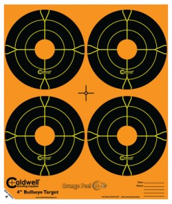 ORANGE PEEL 4IN BULLSEYE 25PK