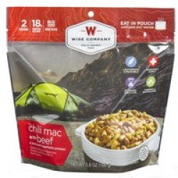 WISE CAMPING CHILI MAC W/ BEEF 6PK