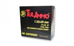 7.62x39mm - 124 Grain HP - Tula - 100 Rounds