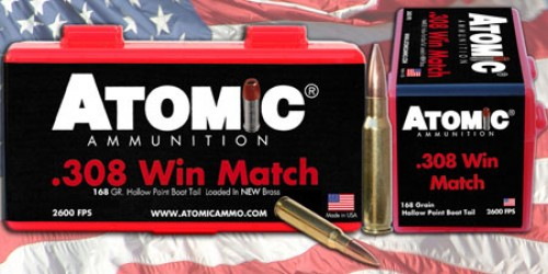 ATOMIC AMMO .308 WIN. MATCH
