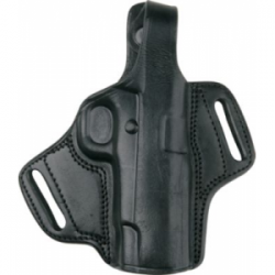 Bulldog Deluxe Molded-Leather Holster - Black