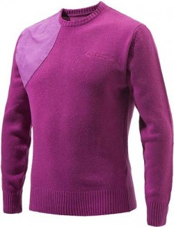 BERETTA MEN'S CLASSIC ROUND SWEATER SMALL VIOLET