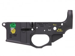 Spikes Tactical Pineapple Grenade AR-15 Stripped Lower Receiver Color Filled STLS032-CFA