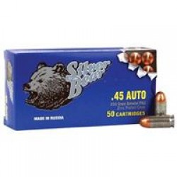Silver Bear, .45 ACP, FMJ, 230 Grain, 50 Rounds