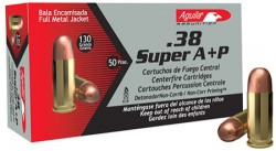 Aguila .38 SUPER AUTO  P FMJ / FULL METAL JACKET