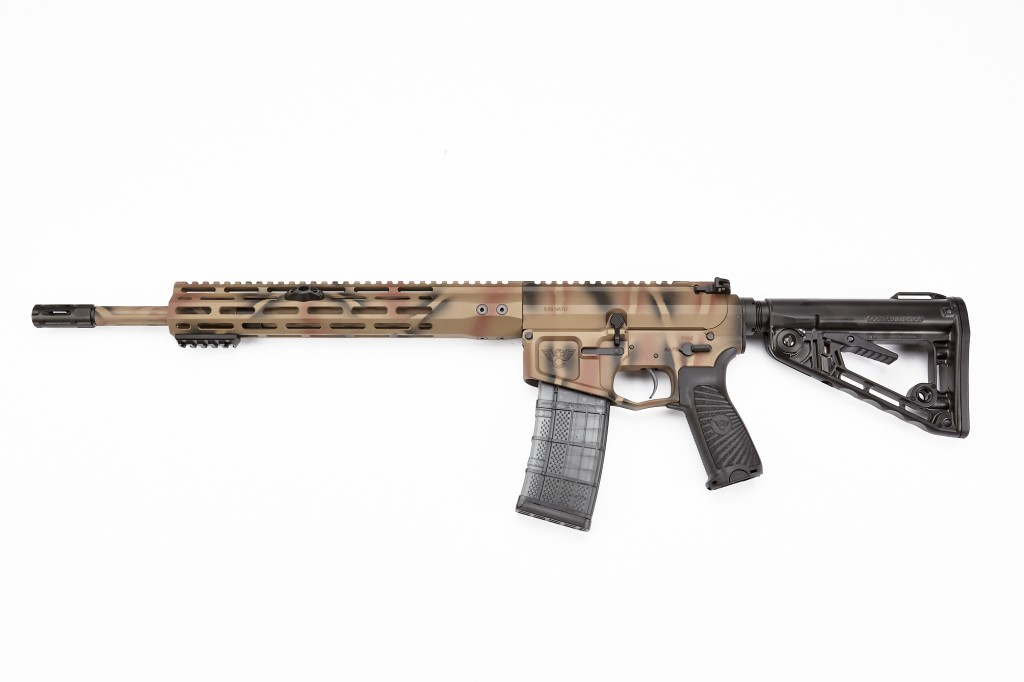 "Wilson Combat Recon Tactical Rifle, 5.56 NATO, 16"" Barrel, 1-8 Twist, Fluted, Battle Camo"