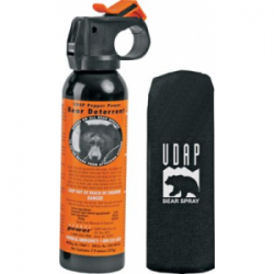 Udap Pepper Power Safety Orange Bear Spray with Hip Holster