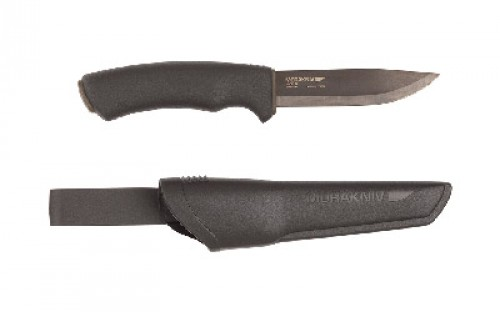 Morakniv Bushcraft Knife, Black Carbon Steel Blade, M-10791