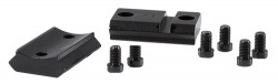 Warne Scope Mounts 2-PC STL BASE RUG RIMFIRE