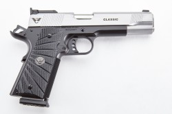 Wilson Combat Classic, Full-Size, 9mm, Reverse Two-Tone, Stainless/Black