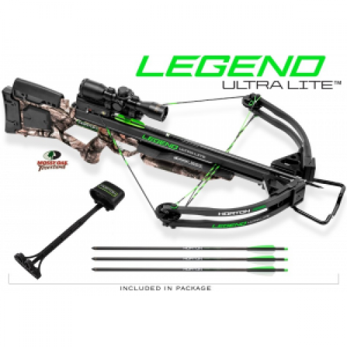 Horton Legend UltraLite Premium Crossbow Package 3x ProView2 Scope (No Cocking Device) - Mossy Oak Treestand