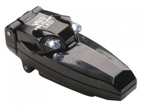 Vb3 2220 Led Flip-up Clip-on Flashlight Black