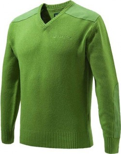 BERETTA MEN'S CLASSIC V-NECK SWEATER LIGHT GREEN MEDIUM