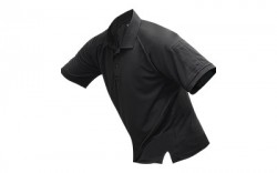 Vertx Mens Coldblack Short Sleeve Polo Black Polyester L