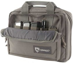 DRAGO DOUBLE PISTOL CASE GREY
