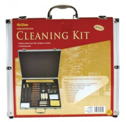 Allen 60 Piece Cleaning Kit with Aluminum Case Black/Silver