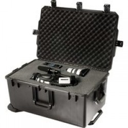 Pelican Storm Cases iM2975 Dry Box w/Wheels, 31.3x20.4x15.5in, Black, Waterproof, Crushproof, Cubed Foam iM2975-00001