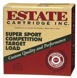 Estate Super Sport Competition Target Load 12GA 2.75-inch 1-1/8oz #8 Shot 25rds