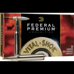 Federal Premium Vital-Shok Trophy Bonded Tip Rifle Ammunition - Translucent