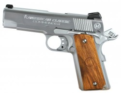 American Classic Commander Chrome/Wood .45ACP 4.25-inch 8rd