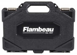 FLAMBEAU GUNCASE SINGLE HANDGUN BLACK PLUCK FOAM 12.125X6.6X2.5