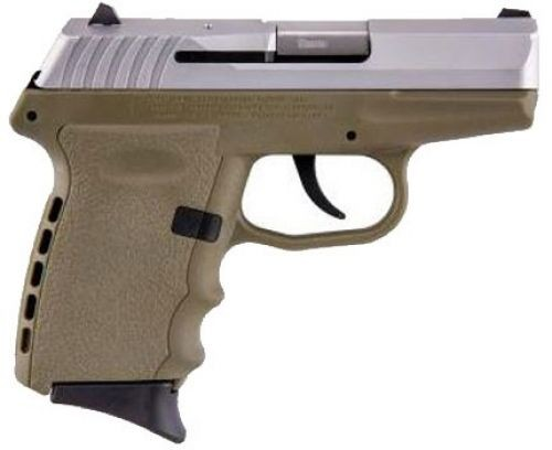 SCCY CPX-2 Stainless Steel / Flat Dark Earth 9mm 3.1-inch 10rd without Safety