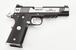Wilson Combat CQB Tactical LE, Full-Size, 9mm, Reverse Two-Tone, Stainless/Black