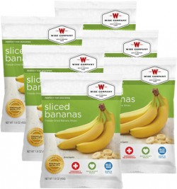 Wise Foods 2W02-401 Fruit Sliced Bananas, 4 Servings