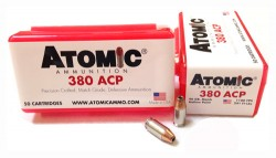 Atomic .380 ACP Ammunition 90GR Hollow Point 50Rds
