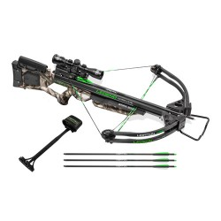 Horton Legend Ultra Lite Crossbow Package with 4x32 Multi-Line Scope, Mossy Oak Treestand