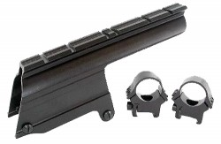 B-Square Shotgun Saddle Mount w/1in Rings - Mossberg 535/835 12 ga, Maverick 91 12 ga, Blued 16585