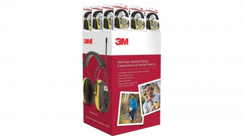 3M Work tunes Hearing Protection Earmuff Display