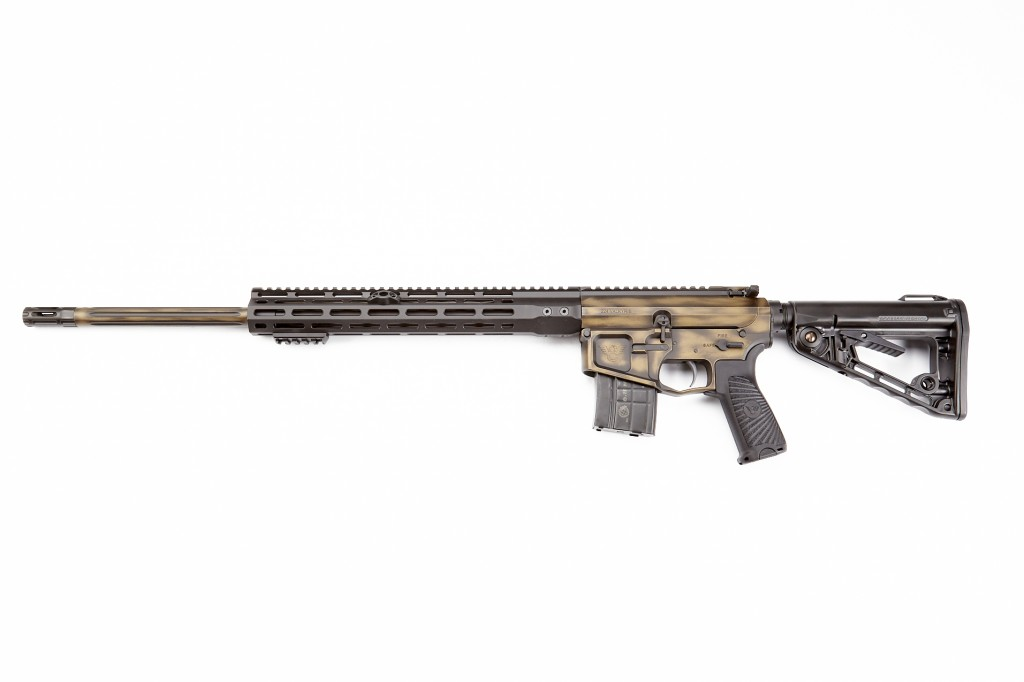 "Wilson Combat Super Sniper Rifle, 224 Valkyrie, 22"" Barrel, 1-6.5 Twist, Fluted, Burnt Bronze/Black"