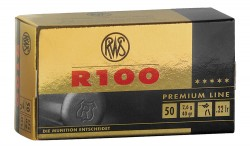RWS Premium R100 Rimfire Ammo - .22 Long Rifle - 40 Grain - 50 Rounds